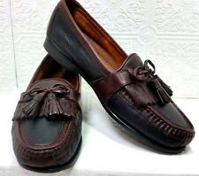 JOHNSTON & MURPHY Leather Slip On Tassel Loafer Shoe Mens 9.5