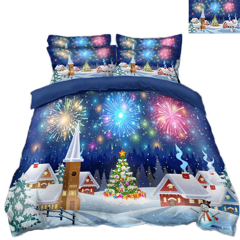 3D Christmas Xmas 434 Bed Pillowcases Quilt Duvet Cover Set Single Queen King AU