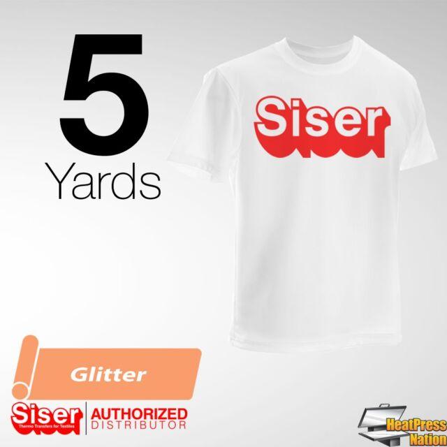 "NEW Siser GLITTER Heat Transfer Vinyl 20/"" X 10 Yd Choose From 42 COLORS"