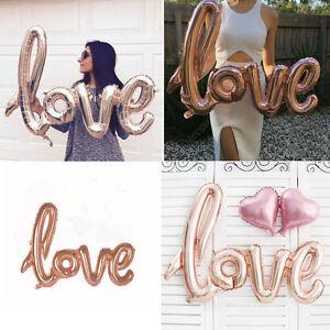 LOVE-Shape-Foil-Balloon-Birthday-Wedding-Party-Anniversary-Ballo-Foil-Decor-Z9Y8