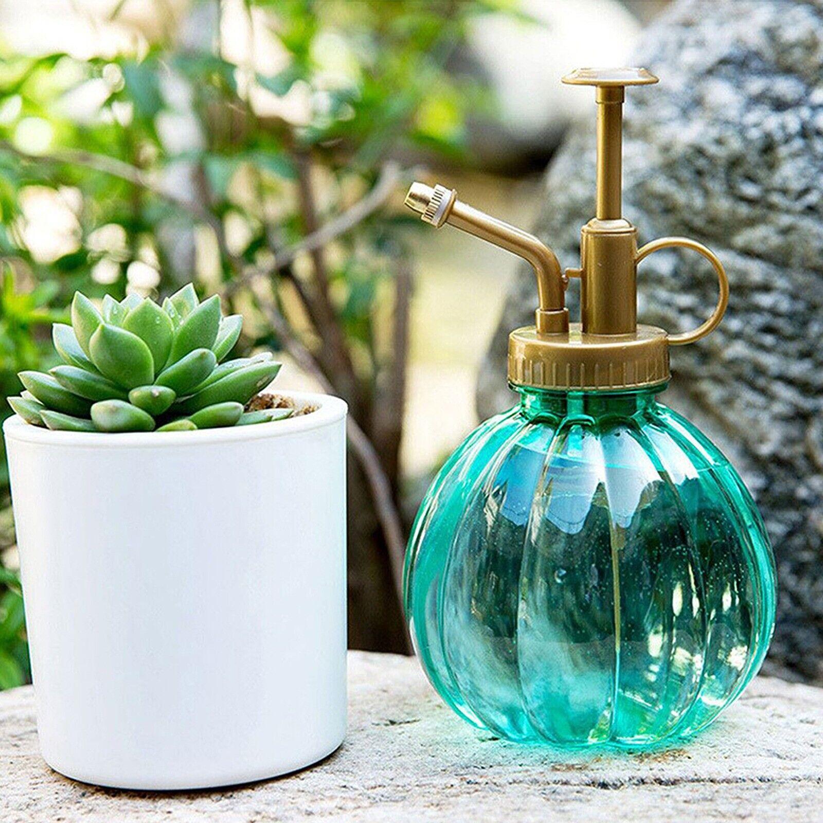 Glass Watering Pot Spray Bottles Plant Flower Garden Pumpkin Sprayer Bottle`