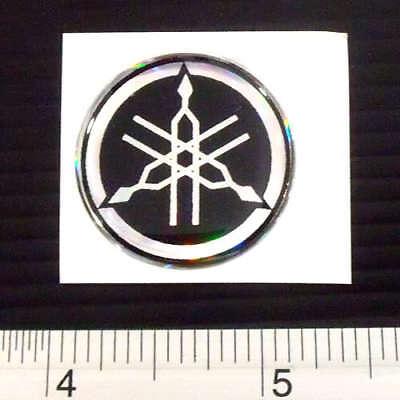 "Yamaha Motor Cycles Bike Sticker Reflective Light Decal Black 1.5x3/"""