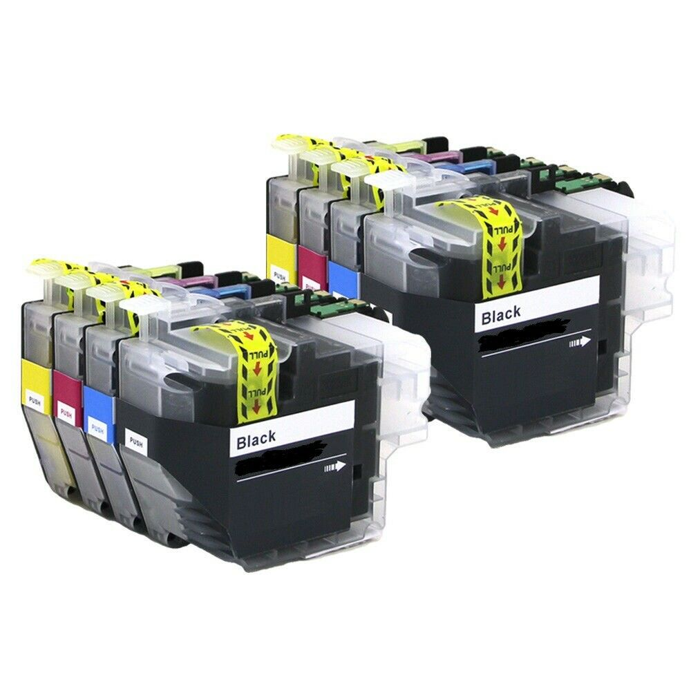 8 x Ink Cartridges ( 2 Sets ) Non-OEM Alternative For Bredher - LC3233 - B,C,M