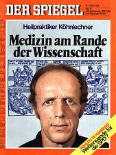 """""""Der Spiegel"""" Nr. 9 von 1974, Köhnlechner - Medizin am Rand der Wissenschaft"""