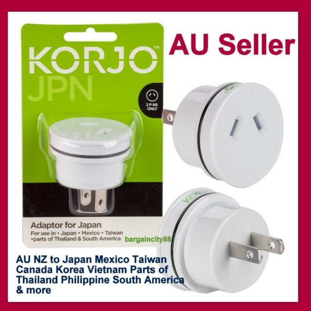 Korjo Plug AC Power Adapter Travel Converter AU Australia to Japan Canada Asia