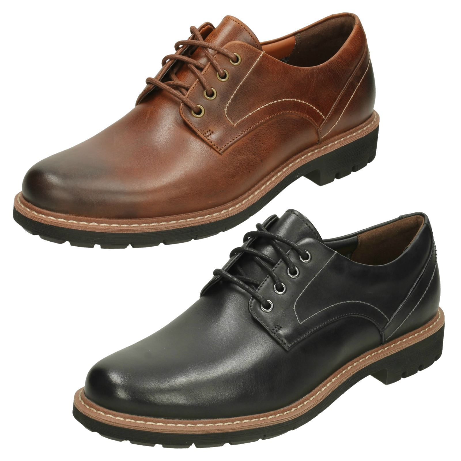 Mens Clarks Batcombe Hall Leather Smart Casual Lace Up shoes G Fitting
