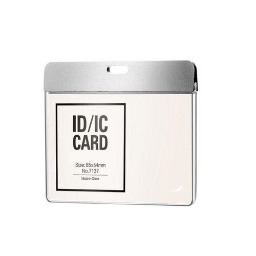 ID Badge Holder Detachable Lanyard Transparent Window Work Card Protector Office