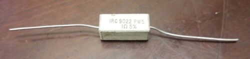 Lot of 10  TT Electronics IRC 9022 PW5 1ohm 5/% Power Resistors Wirewound Cement