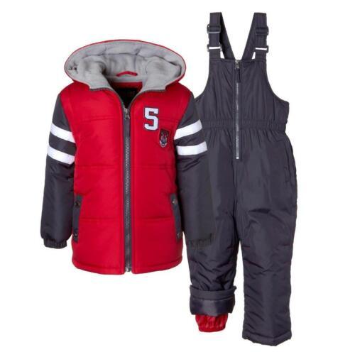 Ixtreme 4-7 Boys Insulated 2-Piece Bib Snowsuit 4 5 6 7 New $100