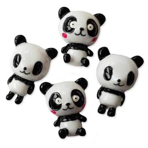 Grande Resina Dorso Plano Cabujones Chico Chica Panda Adorno Decoden Craft 4 un