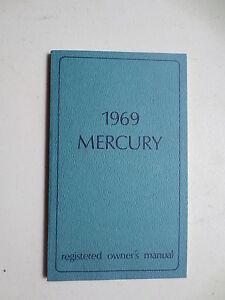 1969 ford mercury owner s manual ebay rh ebay ie mercury outboard owners manual mercury outboard owners manual pdf
