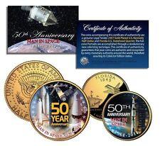 MAN IN SPACE *50th Anniversary* NASA 24K Gold U.S. Legal Tender 2-Coin Set_