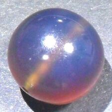 17ct 19mm Quality Nat Sumatra Indonesia Strong Blue AMBER ROUND BALL Bead SPHERE
