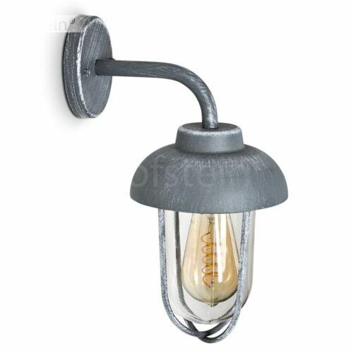 klassische Außen Wand Lampe graue Terrassen Haus Tür Einfahrt Hof Leuchten Glas