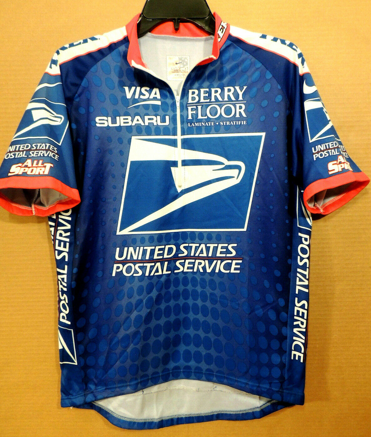VINTAGE NIKE UNITED STATES POSTAL SERVICE TREK  SIZE LARGE CYCLING JERSEY   counter genuine