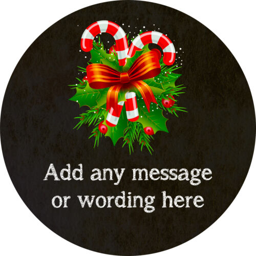 Christmas Candy Canes Bows Sticker Labels for Party Bag Sweet Cones