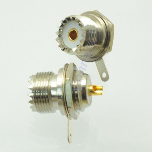 1pce UHF female jack SO239 nut bulkhead deck clip solder cup RF connector