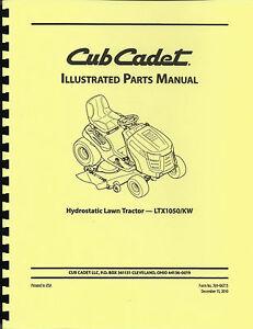 cub cadet ltx1050 kw lawn tractor parts manual ebay rh ebay com cub cadet owners manual ltx 1050 cub cadet owners manual ltx 1040