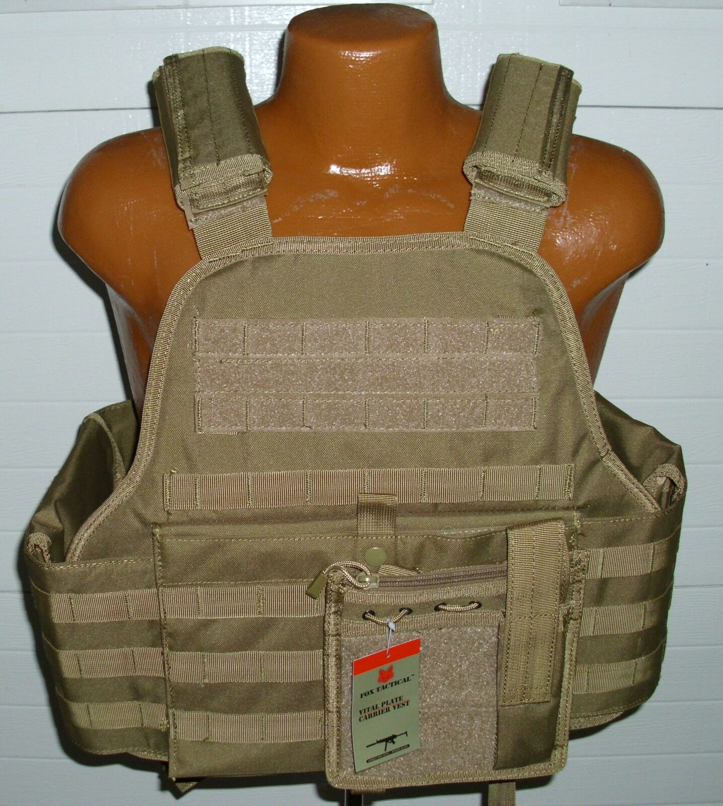Tactical Modular Vital MOLLE Plate Armor Carrier Vest -  COYOTE DESERT TAN  offering 100%