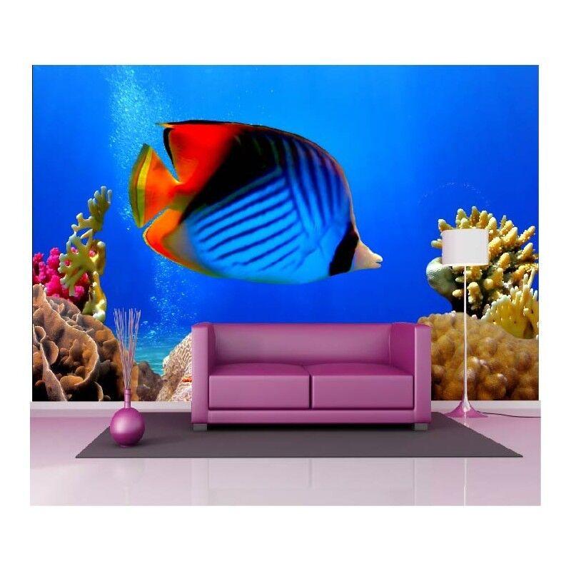 À la fin de un l'année, j'ai acheté un de grand groupe et rencontré environ dix mille ménages. Papier peint géant poisson multicolore1528 2906b0