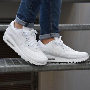 e179c1368a6389 Das Bild wird geladen Nike-Air-Max-90-Leather-Schuhe-Turnschuhe-Sneaker-