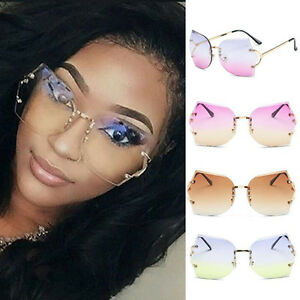 59a1081a1f1 Image is loading Women-Transparent-Eyeglasses-Rimless-Glasses-Oversized- Clear-Lens-