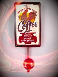 Kleinmöbel & Raumaccessoires Wandhaken Motiv Coffee Schild Eisen Vintage Geschenk Ästhetik Handtuch Halter Badzubehör & -textilien