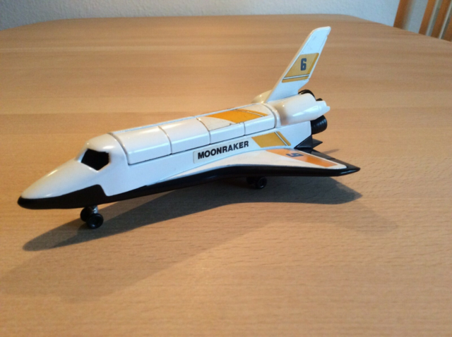Modelfly Corgi, James Bond MOONRAKER space shuttle fra…