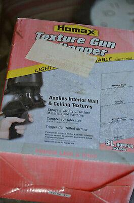 BRAND NEW Homax Pro 4630 Pneumatic Spray Texture Gun /& 3L Hopper 16 Patterns