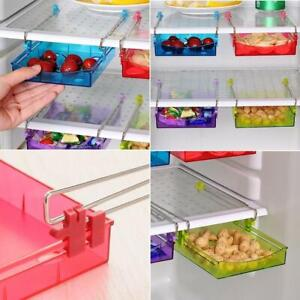 Kitchen-Freezer-Fridge-Drawer-Storage-Racks-Holders-Slide-Shelf-Organizer-Blue