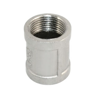 1Pcs-3-4-034-Female-x-Female-Couple-Stainless-Steel-304-Threaded-Pipe-Fitting-NPT