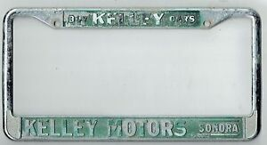 Super Rare Sonora California Kelley Motors Vintage Dealer