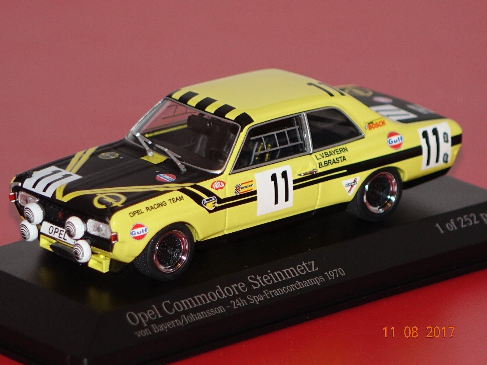Opel Commodore A Steinmetz 24 H Spa 1970  11 1 43 Minichamps 400704611 NOUVEAU & NEUF dans sa boîte