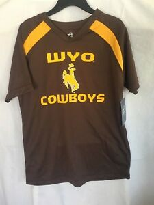 free shipping a27ac c4e47 Details about Wyoming Cowboys WYO Youth Large Mascot Jersey Official  Licensed College Apparel