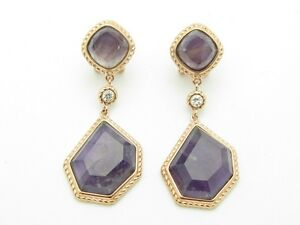 54 8ct sapphire dangle earrings 18 kt gold 18kt gold sterling silver set sapphire purple