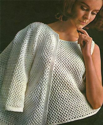 Womens Twin Set Crochet Pattern : Jacket and Top 34 36 38 40 inch bust / chest