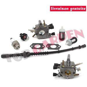 Carburateur-pour-Stihl-FS120-FS200-FS250-FS300-FS350-Debroussailleuse-avec-Tuyau