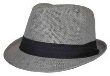 item 1 Straw Fedora Gray With Black Band 62cm 2xl -Straw Fedora Gray With Black  Band 62cm 2xl cbe9754de03b