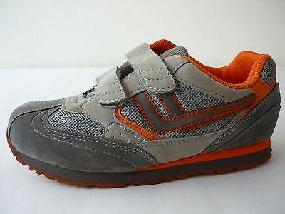 KILLTEC Halbschuhe Jungen 33 Turnschuhe Sneakers Grau / Orange Klett NEU