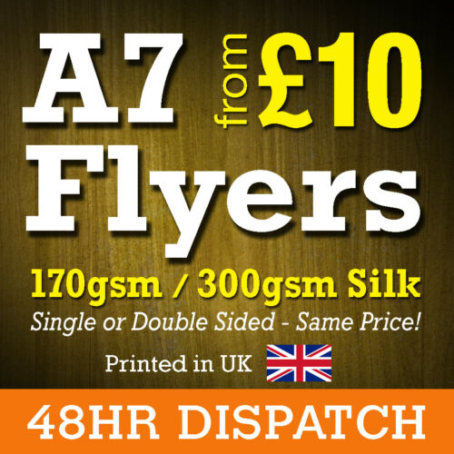 A7 Flyers Leaflets Printed Full Colour 170gsm Silk A7 Flyer Printing