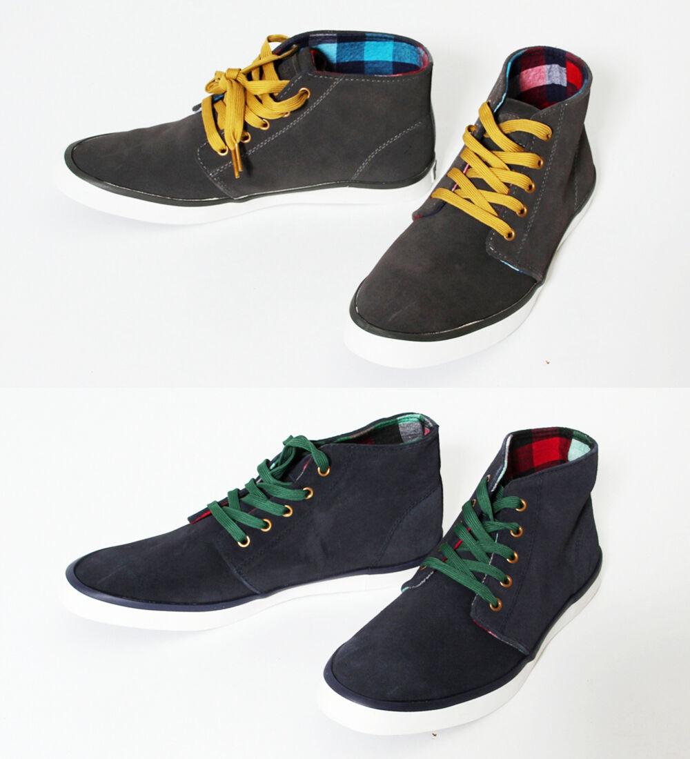 J. Fabian Ricky Sneaker Schuhe High Top Sneakers Canvas Halbschuh gray blau navy