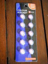 10 Stück Magnete für Magnettafel, Kühlschrank,.. PINK