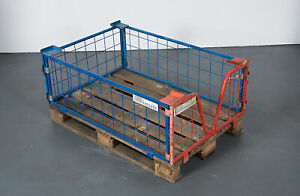 Gitteraufsatzrahmen-Gitterbox-Palettenaufsatz-Europalettenbox-120x80x40cm