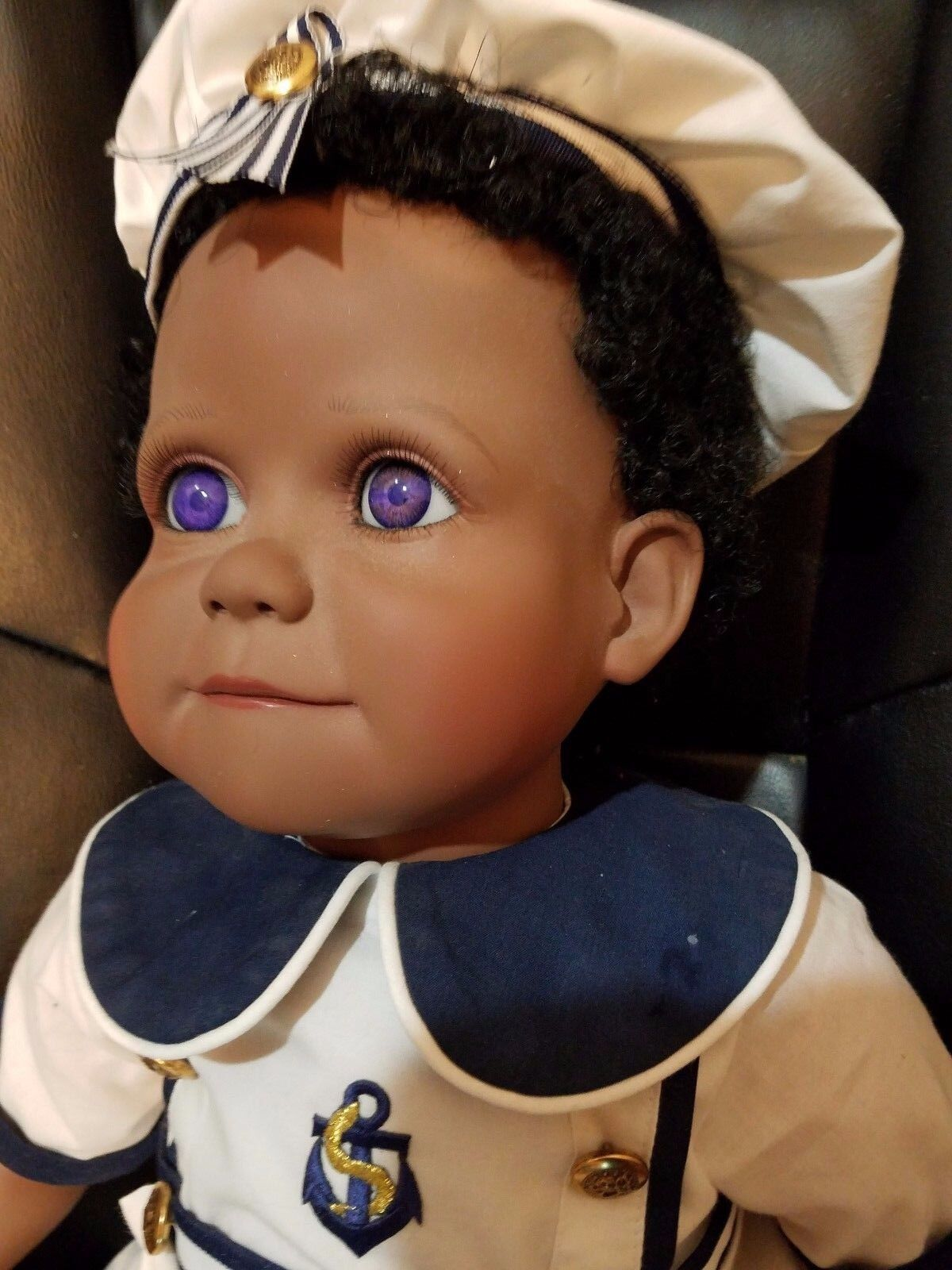 Muñeca por Virginia Turner 24  Vinilo Negro Negro Negro Macho marinegro muñeca GWd  100% precio garantizado