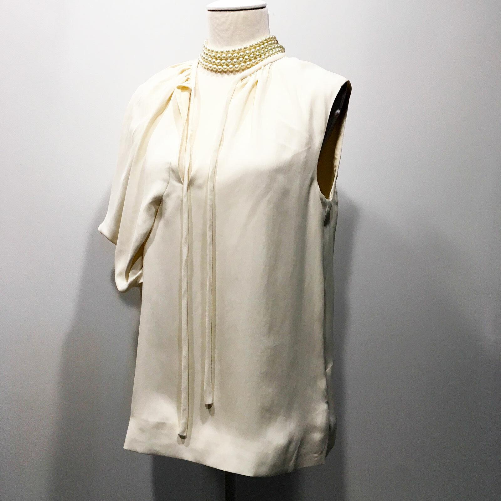 Balenciaga | $945 Ivory One-Shoulder  Pleated Dra… - image 2