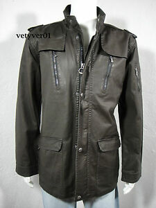 Mens Wellensteyn Montgomery Coat Jacket Cotton Blend Brown