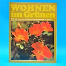 DDR Wohnen im Grünen 2/1982 Verlag für die Frau P Bitterfeld Forst Balkonblumen