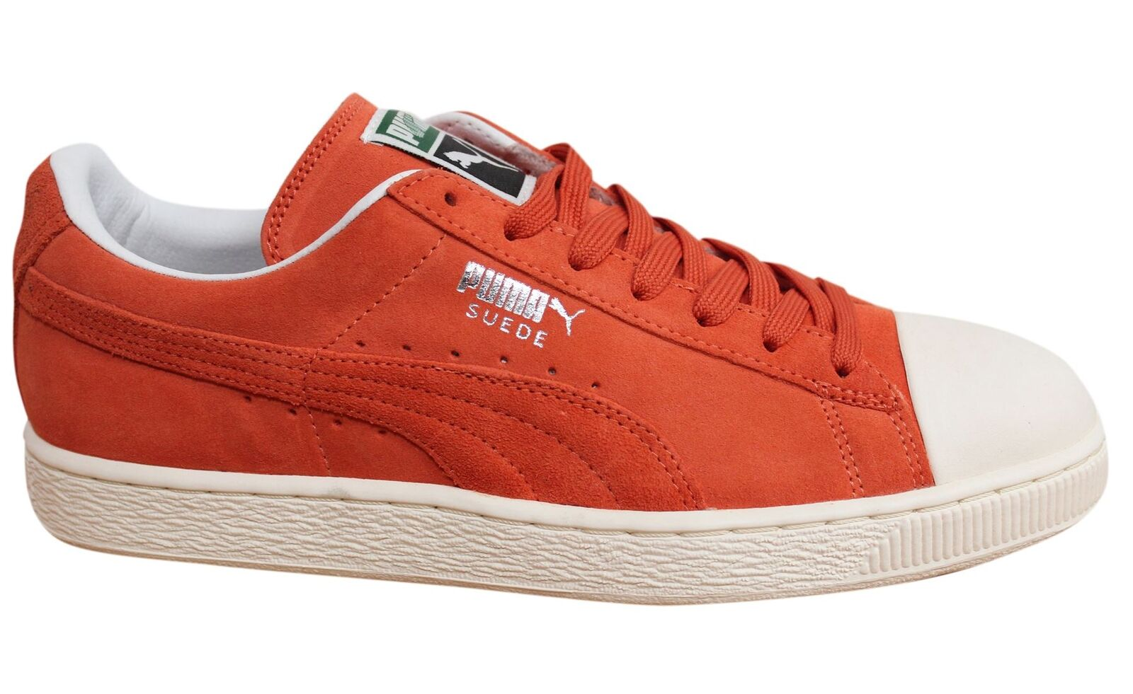Puma Suede Rubber Lace Up Orange Leather homme Trainers 357719 06 D21