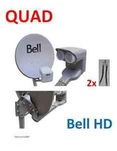 """NEW Dish 500 Bell ExpressVu 20/"""" DPP Twin LNB"""
