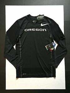 Nike Dri-Fit Oregon Ducks Velocity L/S Speed Black Training Shirt Men's Size S